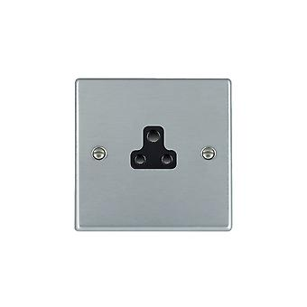 Hamilton Litestat Hartland Satin Chrome 1g 2A Unswitched Socket BL