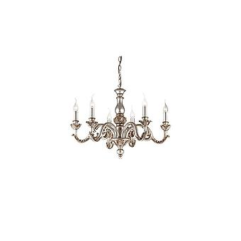 Ideal Lux - Giglio Silver Finish Six Light Chandelier Idl075310