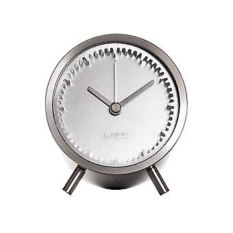 Leff Amsterdam Brick Stainless Steel 24 Hours Wall/ Desk Clock, Black
