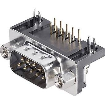 D-SUB pin strip 90 ° Number of pins: 9 Print (right-angle) BKL E