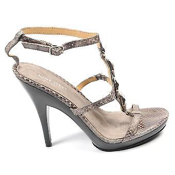 Nine West Womens Ankle Strap Sandal Nwvencentio Brown Multi