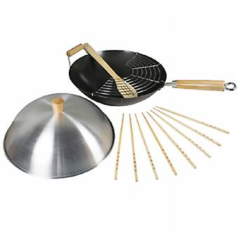 Swift Heavy Gauge Non Stick Wok Set 34cm 12108516
