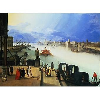 View of Venice by Louis de Caullery - Art Print