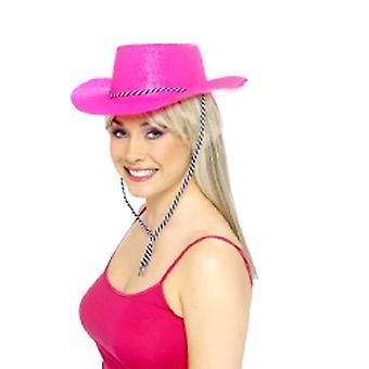 Glitter Cappello da cowboy Neon Pink