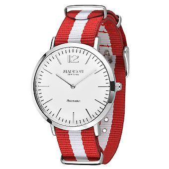 MADISON NEW YORK ladies watch wristwatch Avenue textile L4741G1