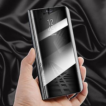 For Samsung Galaxy J3 J330F 2017 clear view mirror mirror smart cover black protective case cover pouch bag case new case wake UP function
