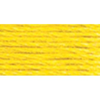 DMC Pearl Cotton Skein Size 3 16.4yd-Lemon