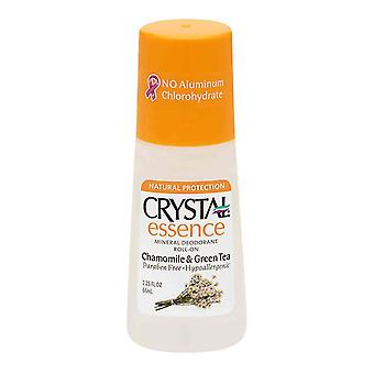 Crystal essensen Roll-on Deodorant, kamille & grøn te, 2.25 Oz