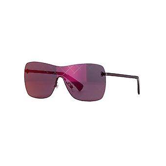 Chanel Chanel Ladies Runway Shield Rimless Sunglasses With Burgundy Mirror Lenses