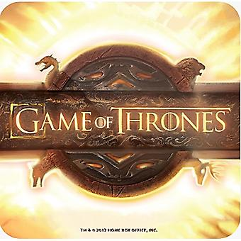 Game Of Thrones Opening Logo Cork Backed Drinks Mat / Coaster