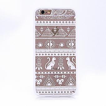Mandala di Mobile Shell per Samsung Galaxy J3 2016 design Custodia cover motivo egiziano caratteri copertura borsa paraurti bianco