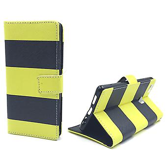 Cell phone cover case for mobile Huawei P9 Lite Black / Yellow
