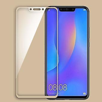 Für Huawei P Smart Plus / Nova 3i 3D Premium 0,3 mm H9 Hart Glas Gold Folie Schutz Hülle Neu