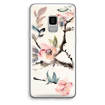 Samsung Galaxy S9 Transparent Case (Soft) - Japenese flowers