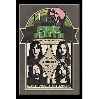 Pink Floyd Tour Animals Tour Poster Print