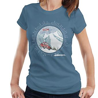 Official Volkswagen Snowflake White Text Women's T-Shirt