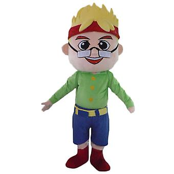mascot SPOTSOUND of blond boy man with glasses and a headband