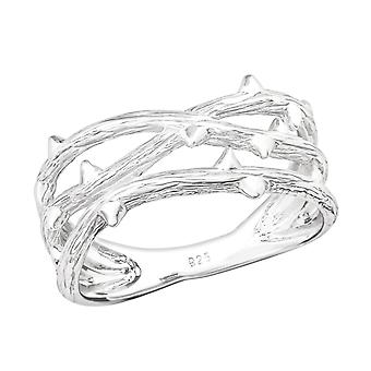 Branch - 925 Sterling Silver Plain Rings - W36757x