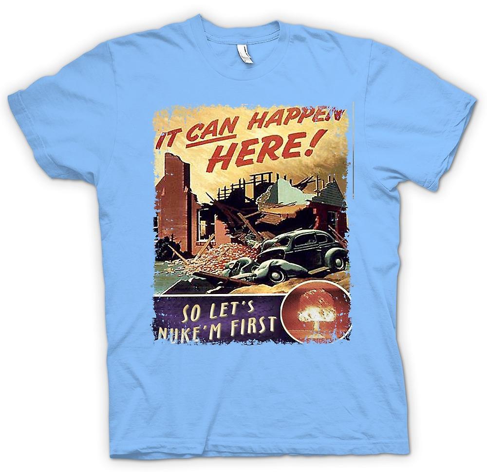 Mens T-shirt - Cold War Vintage Poster Nuke Em