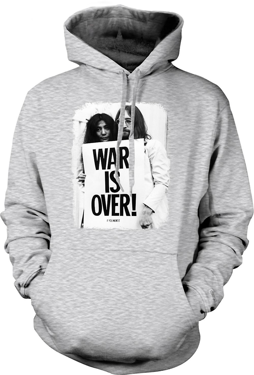 Mens Hoodie - John Lennon & Yoko - War Is Over