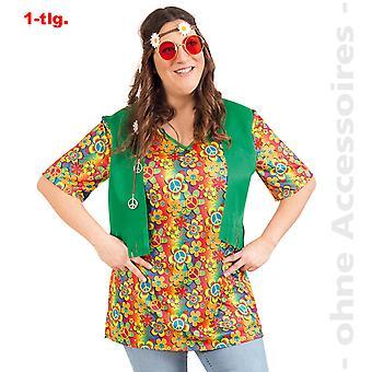 Hippie costume flower child hippie shirt ladies of flower power women's costume