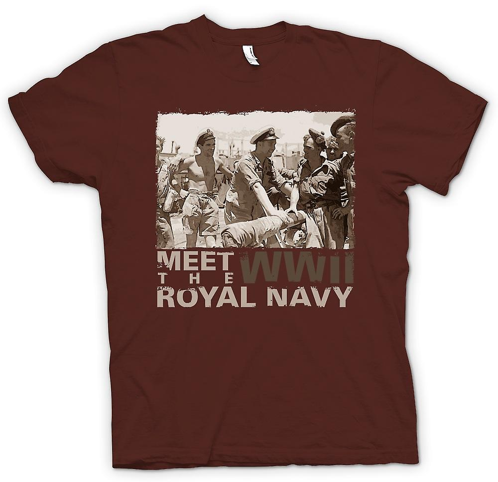 Mens T-shirt - Meet The Royal Navy WW2