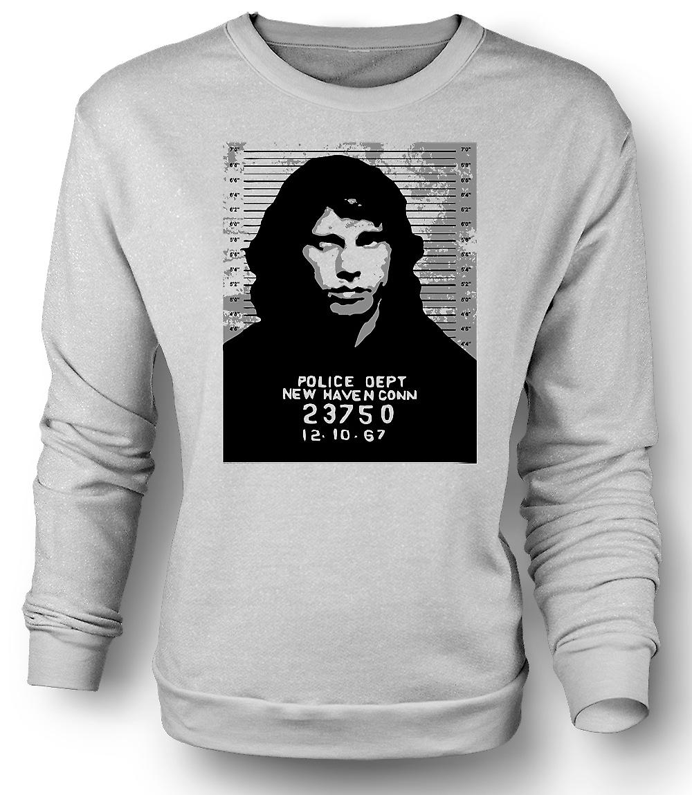 Mens Sweatshirt  Jim Morrison - Doors - Mug Shot - Rock