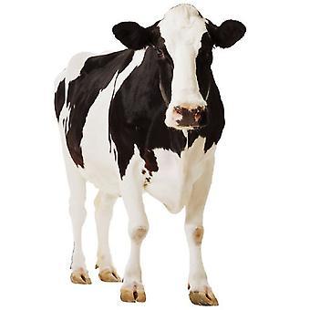 Vaca lechera - recorte de cartón de tamaño natural / pie
