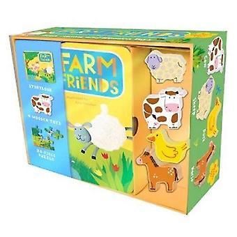 Farm Friends: Book, Jigsaw and Toy Set