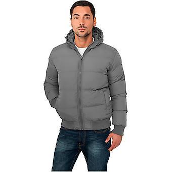 Urban classics invierno chaqueta burbuja con capucha chaqueta de