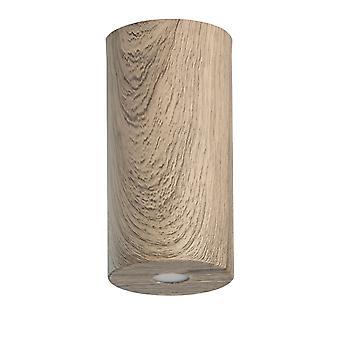 Glasberg - ledde semi infälld taklampa 20 cm kaffe trä 712010401