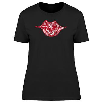 Red Lips In Red Ink Tee Women's -Image by Shutterstock