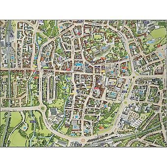Stadtbilder Stadtplan von Canterbury 400 Stück Puzzle 470 x 320 mm (Hpy)