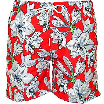 250312c4b50d1 Franks Coolum Fire Floral Print Swim Shorts, Red