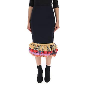 Marine Serre Black Cotton Skirt
