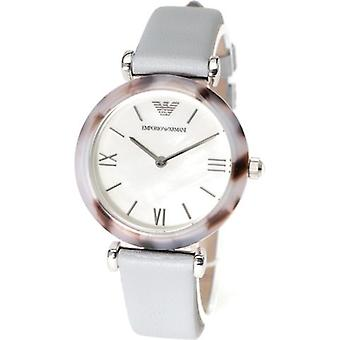 Emporio Armani Ar11002 Ladies Blue Leather Watch