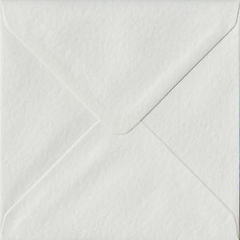 White Hammer Gummed 155mm Square Coloured White Envelopes. 100gsm FSC Sustainable Paper. 155mm x 155mm. Banker Style Envelope.