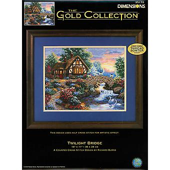 Gold Collection Twilight Bridge Counted Cross Stitch Kit 14