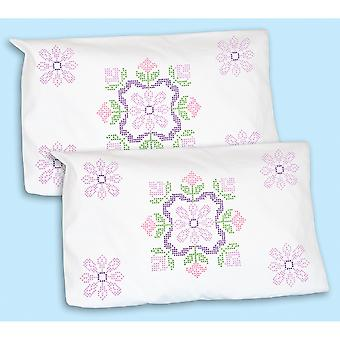Stamped Pillowcase Shams 2/Pkg-XX Colonial 1685 282
