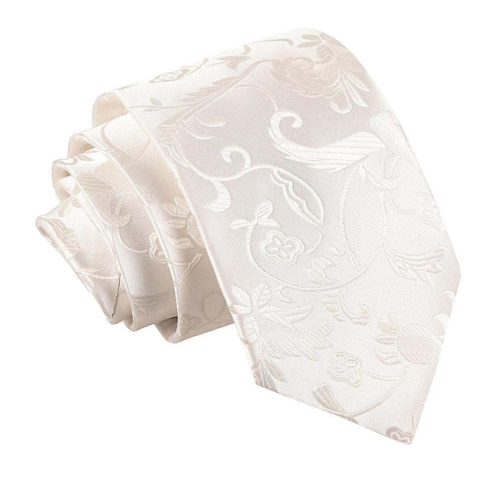 Ivory Passion Floral Patterned Tie