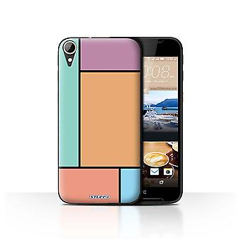 STUFF4 Case/Cover for HTC Desire 830/5 Tiles/Orange/Pastel Tiles