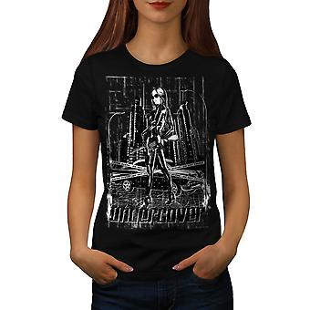 Undercover Beauty Urban Police Women Black T-shirt | Wellcoda