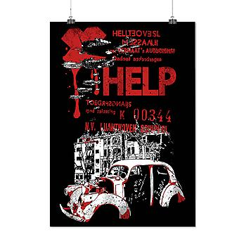 Matte or Glossy Poster with Help Hell City Fashion Help Rider | Wellcoda | *d989