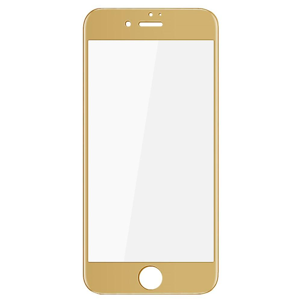Apple iPhone 7 3D armoured glass film screen protector covers case gold