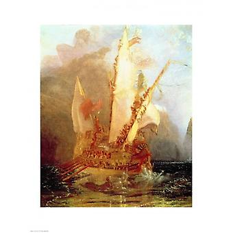 Ulysse raillant Polyphème Poster Print de JMW Turner (18 x 24)