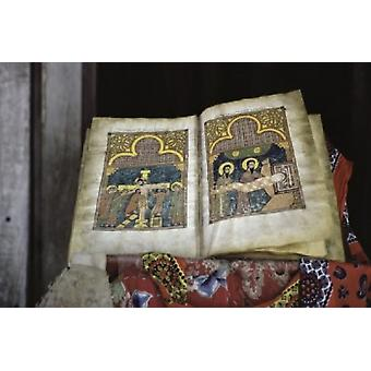 Ethiopian Bible Crucifixion Manuscripts Poster Print