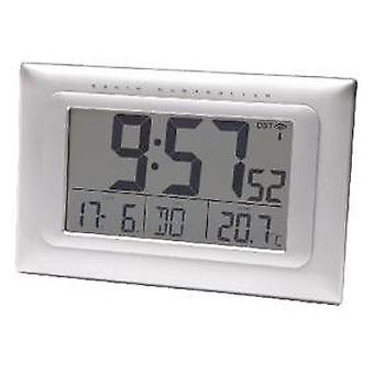 Balance Radio-Controlled Alarm and Wall Clock Digital Silver