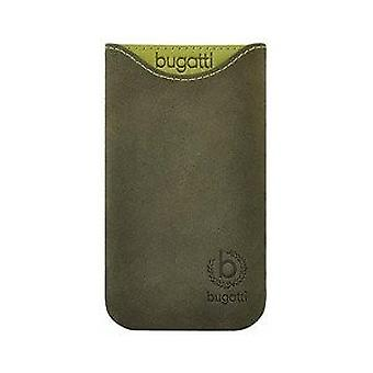 Bugatti skinny universal leather case dark green size SL