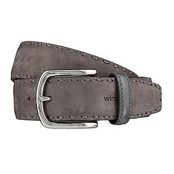 Windsor. Belts men's belts leather belt grey 4186