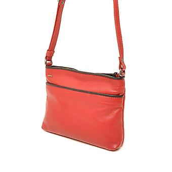 Berba Soft cross-over zipper bag 005-330 red/black